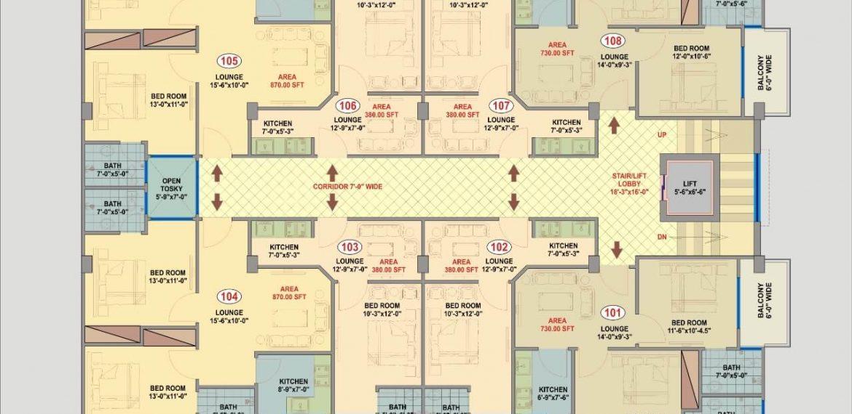 Friends-Arcade-5 1st – 5th Floor Plan