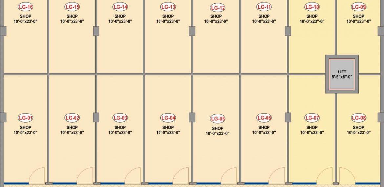 Friends-Arcade-5 Lower Ground Floor Plan