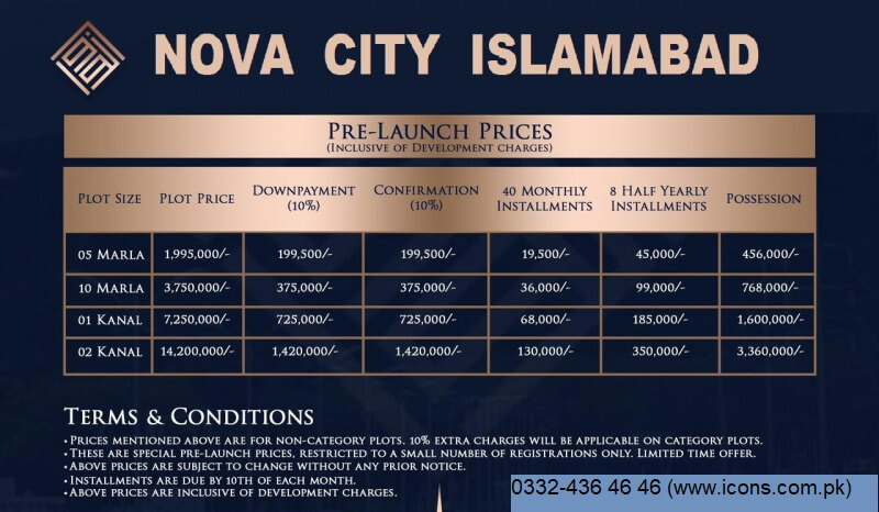 Nova-city-Pre-Launch-Payment-Plan