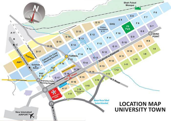 University-Town-Islamabad-Location-Map